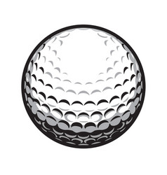 golf ball isolated vector image