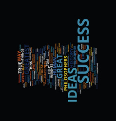 Great success ideas text background word cloud vector
