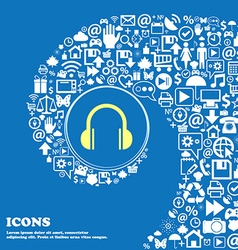 headphones icon Nice set of beautiful icons vector image