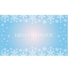 hello winter vector image