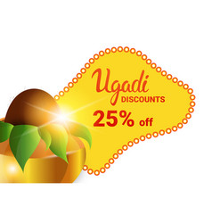 Holiday sale shopping happy ugadi gudi padwa hindu vector