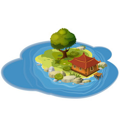 island concept for computer games and vector image