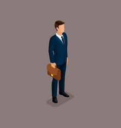 isometric 3d big boss businessman vector image