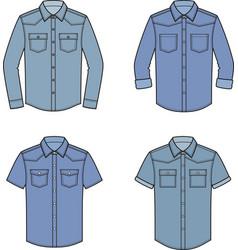 Jean shirt set vector