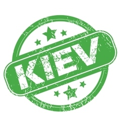 Kiev green stamp vector