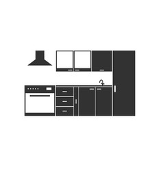 Kitchen element furniture vector