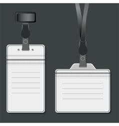 Lanyard retractor end badge vector