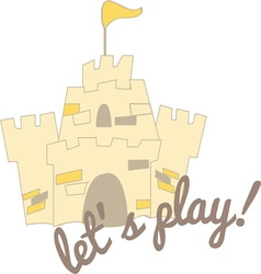 Lets Play vector image