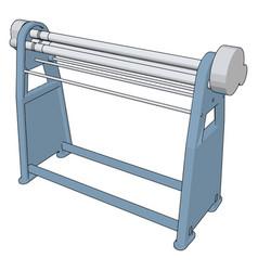 Manual press brake on white background vector