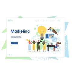 marketing website landing page design vector image
