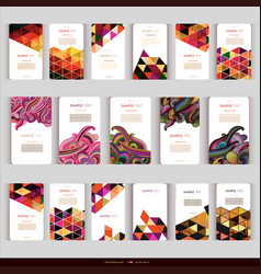 modern abstract geometric business-card set vector image