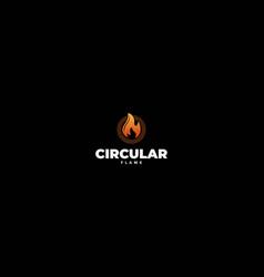 modern circular flame fire for energy logo design vector image