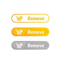 Modern design remove item button online shop vector