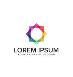 multicolor square media logo vector image