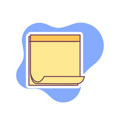 Note paper icon vector
