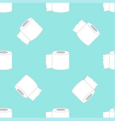 Pattern with toilet paper vector