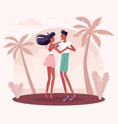 People dancing social dance vector