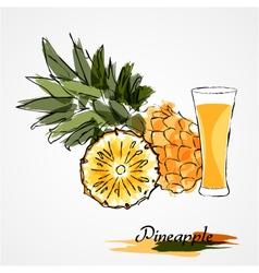pineapple juice vector image