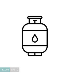 Propane gas cylinder icon vector