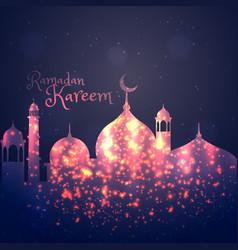 Ramadan kareem background greeting vector