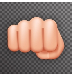 Realistic 3d Punch Fist Hand Palm Icon Social vector image
