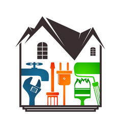 Repair of home design vector