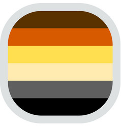 Rounded square with flag pride lgbt vector