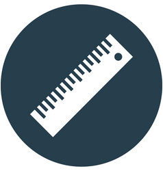 Ruler in circle icon vector