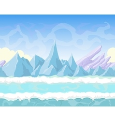 seamless cartoon fantasy landscape vector image
