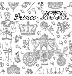 seamless pattern with prince concept vector image