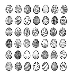 set eggs for happy easter vector image