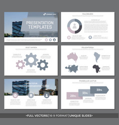 Set of gray and purple elements for multipurpose vector