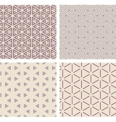 Set of seamless geometric patern vector