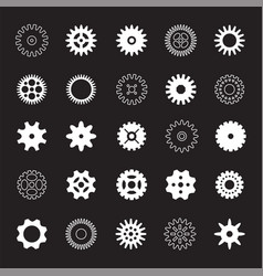 Set of white gears vector