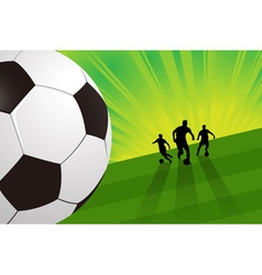 Soccer background - soccer player and ball vector
