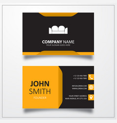 Sofa icon business card template vector