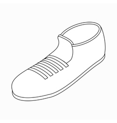 Sport shoe icon isometric 3d style vector image