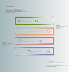 Square template horizontally divided to four color vector