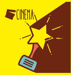 Star award cinema cartoon vector