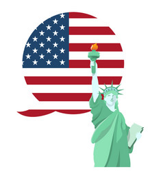 statue liberty national monument in america vector image
