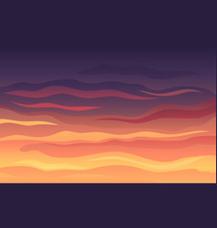 Striped red-black evening sky at sunset vector
