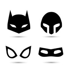 Super hero icons set vector