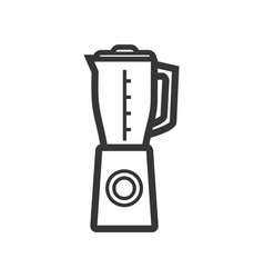 Table blender outline single isolated icon vector
