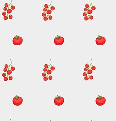Tomatoes and cherry pattern vector