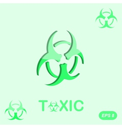 Toxic sign on green background vector