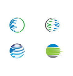 wire world logo template vector image