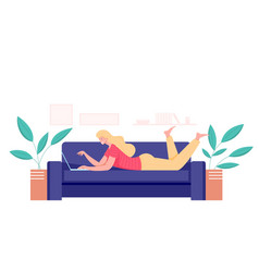 working at home freelance concept vector image