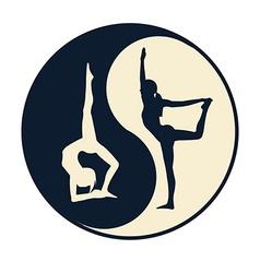 Yoga ying yang vector