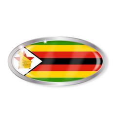 Zimbabwe flag oval button vector