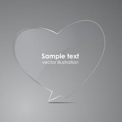 Love realistic glass speech bubbles vector image vector image
